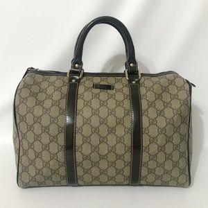 Authentic Gucci GG Boston Bag Brown